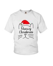 CATS MEOWY CHRISTMAS Youth T-Shirt thumbnail