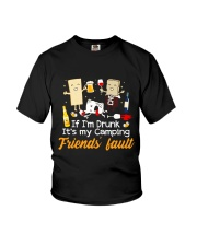 CAMPING FRIENDS FAULT Youth T-Shirt thumbnail