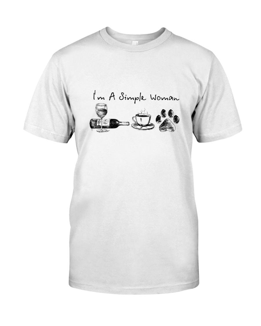 WINE COFFEE DOG Classic T-Shirt