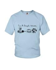 WINE COFFEE DOG Youth T-Shirt thumbnail