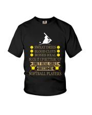 REAL GIRL SOFTBALL Youth T-Shirt thumbnail