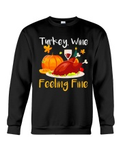 WINE FEELING FINE Crewneck Sweatshirt thumbnail