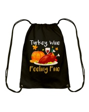WINE FEELING FINE Drawstring Bag thumbnail