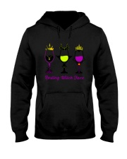 RESTING WITCH FACE WINE Hooded Sweatshirt thumbnail