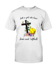 JESUS AND SOFTBALL Classic T-Shirt tile