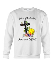 JESUS AND SOFTBALL Crewneck Sweatshirt tile
