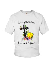 JESUS AND SOFTBALL Youth T-Shirt thumbnail
