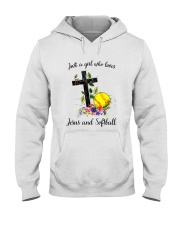 JESUS AND SOFTBALL Hooded Sweatshirt thumbnail