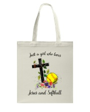 JESUS AND SOFTBALL Tote Bag thumbnail