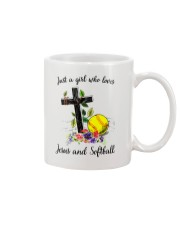 JESUS AND SOFTBALL Mug tile