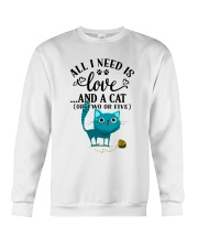 LOVE AND CAT Crewneck Sweatshirt thumbnail