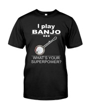 SUPERPOWER BANJO Classic T-Shirt front