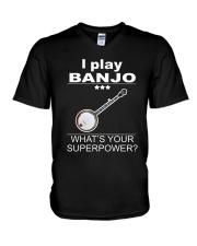 SUPERPOWER BANJO V-Neck T-Shirt thumbnail