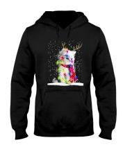 CAT CHRISTMAS LIGHT Hooded Sweatshirt thumbnail