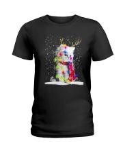 CAT CHRISTMAS LIGHT Ladies T-Shirt thumbnail