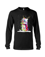 CAT CHRISTMAS LIGHT Long Sleeve Tee thumbnail