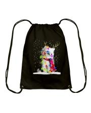CAT CHRISTMAS LIGHT Drawstring Bag thumbnail