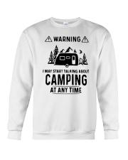 TALKING ABOUT CAMPING Crewneck Sweatshirt thumbnail