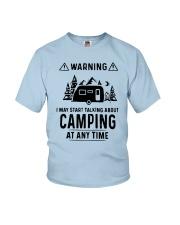 TALKING ABOUT CAMPING Youth T-Shirt thumbnail