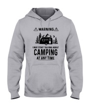 TALKING ABOUT CAMPING Hooded Sweatshirt thumbnail