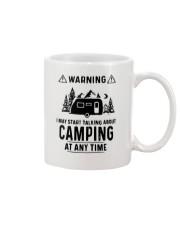TALKING ABOUT CAMPING Mug thumbnail