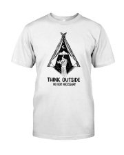 CAMPING THINK OUTSIDE Classic T-Shirt thumbnail