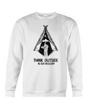 CAMPING THINK OUTSIDE Crewneck Sweatshirt thumbnail