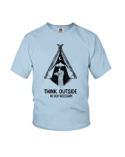 CAMPING THINK OUTSIDE Youth T-Shirt thumbnail