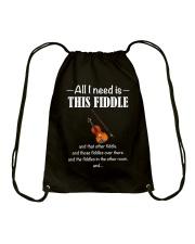ALL I NEED FIDDLE Drawstring Bag thumbnail