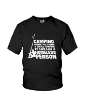 CAMPING HOMELESS PERSON Youth T-Shirt tile