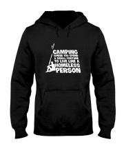 CAMPING HOMELESS PERSON Hooded Sweatshirt tile