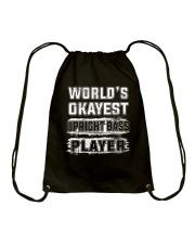 WORLD OKAYEST UPRIGHT BASS Drawstring Bag thumbnail