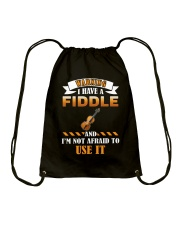 WARNING I HAVE A FIDDLE Drawstring Bag thumbnail