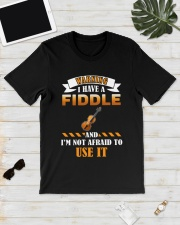 WARNING I HAVE A FIDDLE Classic T-Shirt lifestyle-mens-crewneck-front-17