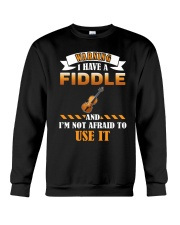 WARNING I HAVE A FIDDLE Crewneck Sweatshirt thumbnail