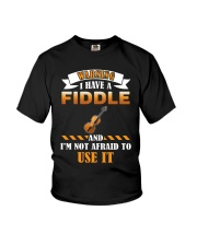 WARNING I HAVE A FIDDLE Youth T-Shirt thumbnail