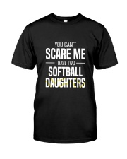 SOFTBALL TWO DAUGHTER Classic T-Shirt front