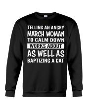 MARCH WOMAN TELLING Crewneck Sweatshirt thumbnail