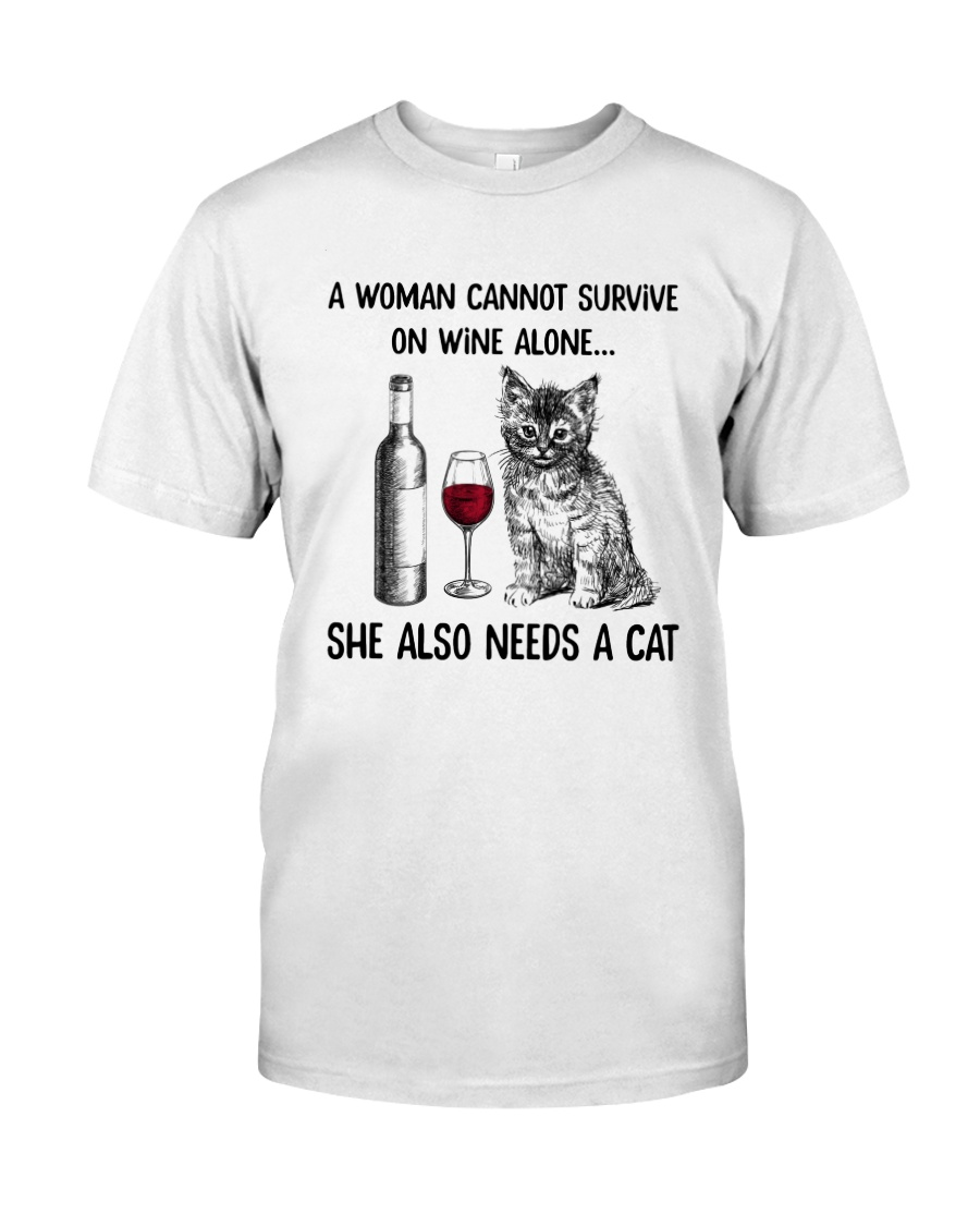 WOMAN WINE CAT Classic T-Shirt
