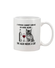 WOMAN WINE CAT Mug thumbnail