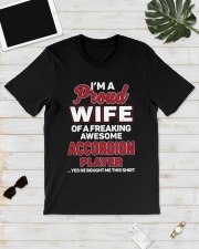 PROUD WIFE ACCORDION Classic T-Shirt lifestyle-mens-crewneck-front-17