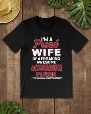 PROUD WIFE ACCORDION Classic T-Shirt lifestyle-mens-crewneck-front-18
