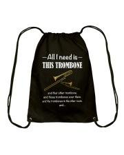 ALL I NEED TROMBONE Drawstring Bag thumbnail