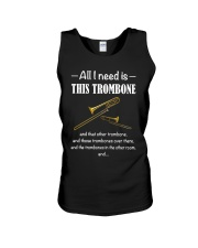 ALL I NEED TROMBONE Unisex Tank thumbnail