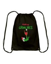 DRINK GRINCHES Drawstring Bag thumbnail