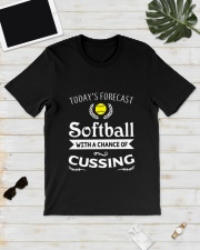 SOFTBALL CUSSING Classic T-Shirt lifestyle-mens-crewneck-front-17