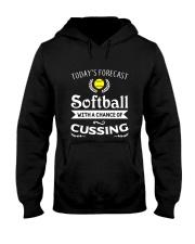 SOFTBALL CUSSING Hooded Sweatshirt thumbnail