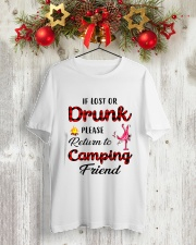 LOST OR DRUNK CAMPING FRIEND Classic T-Shirt lifestyle-holiday-crewneck-front-2