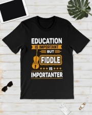 EDUCATION FIDDLE Classic T-Shirt lifestyle-mens-crewneck-front-17