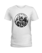 I EAT PEOPLE CAMPING Ladies T-Shirt tile